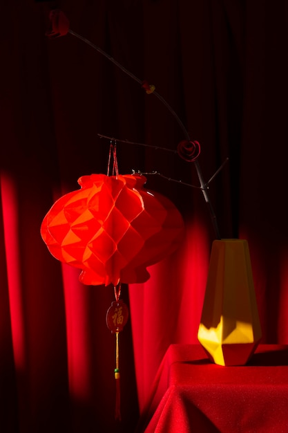 New year chinese 2021 red lantern decoration Free Photo