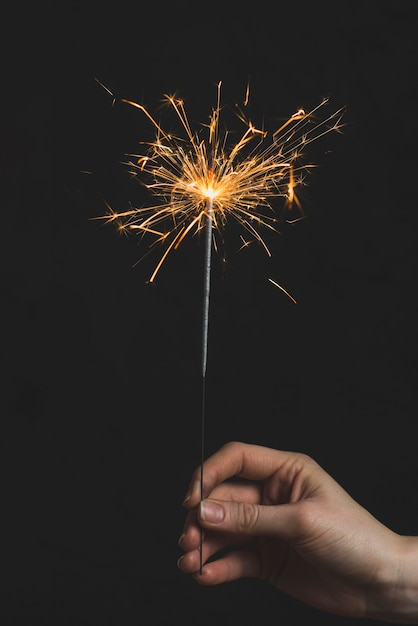 New year concept with sparkler Free Photo