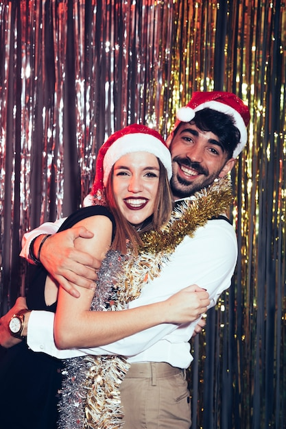 New year party concept with young couple Free Photo