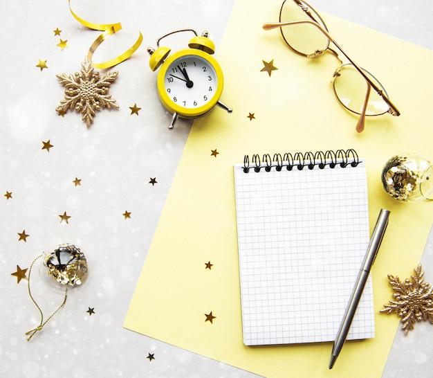 New year planning concept Premium Photo