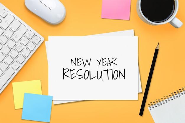 New year resolution goal list 2020 target setting Premium Photo