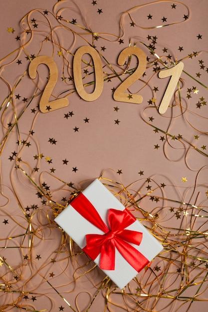 새해 선물 황금 프리미엄 사진