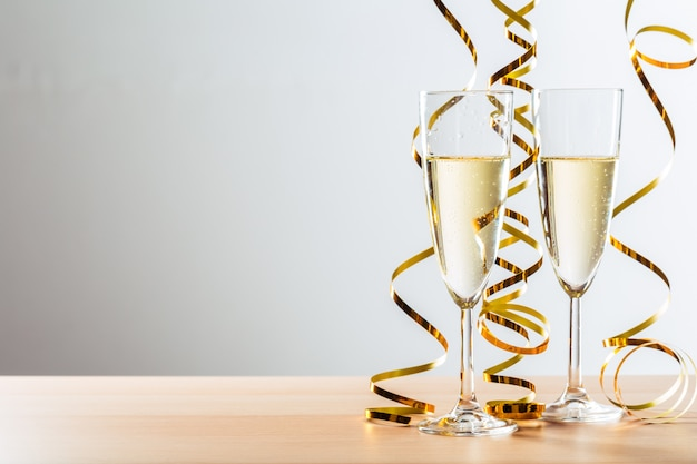 New years eve celebration  with champagne Premium Photo