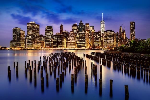 New york  city lights Premium Photo