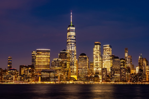 New york city lower manhattan Premium Photo