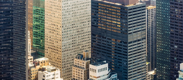 New york cityscape birds eye view Premium Photo