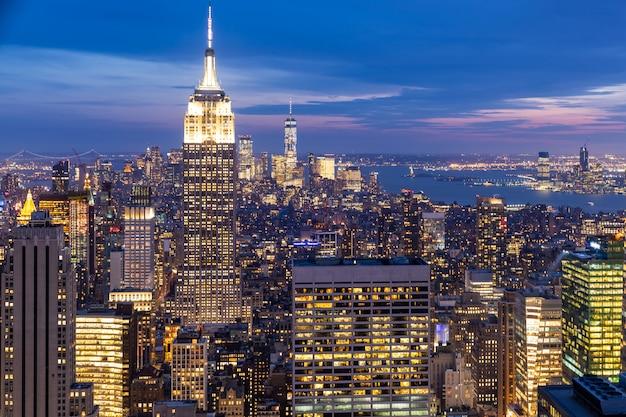 New york skyscrapers Premium Photo