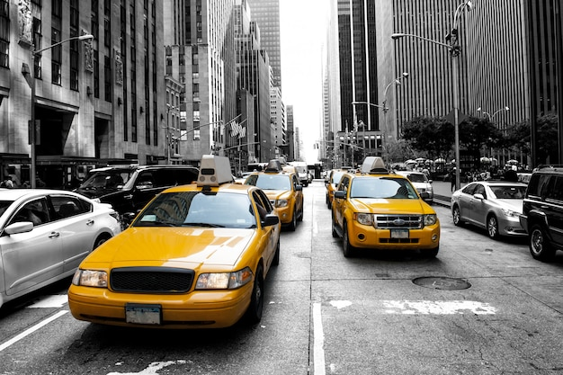 New york taxy Premium Photo