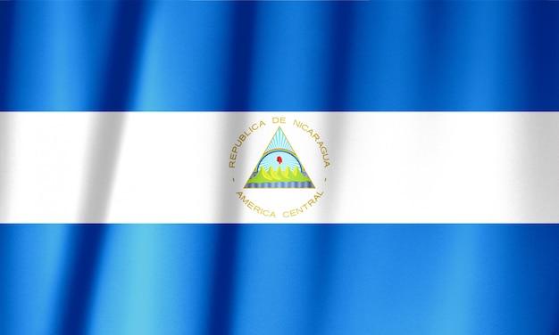 布のテクスチャ、ビンテージスタイルのニカラグアの旗パターン Premium写真