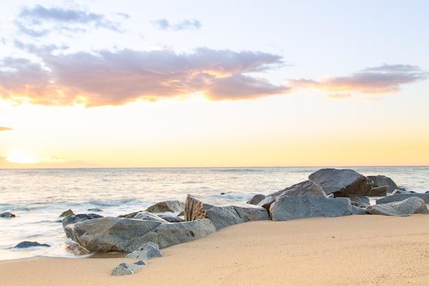 Nice awakening silky sea Premium Photo