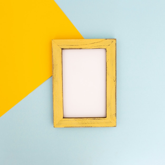Nice composition of empty photo frame Free Photo