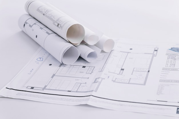 Nice construction drafts Free Photo