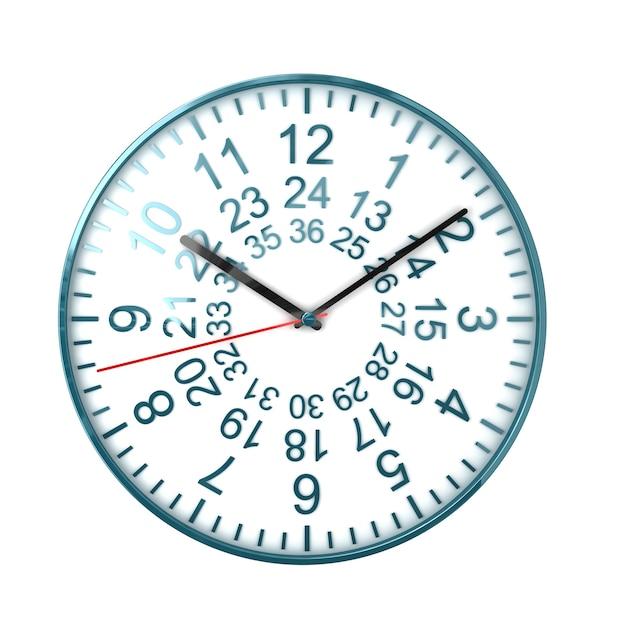 Хорошие часы на белом Premium Фотографии