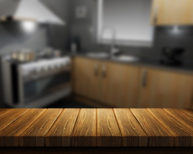 Nice wood in a kitchen Free Photo