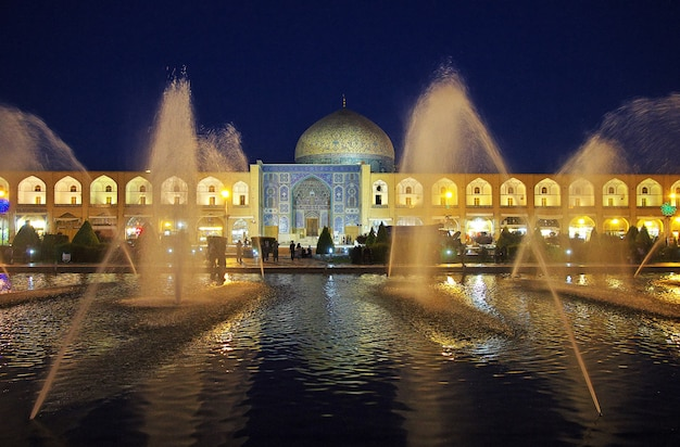 Night in ancient city isfahan in iran Premium Photo