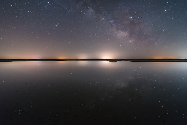 Night in the lagoon Premium Photo