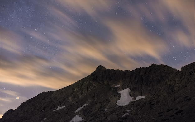 Night in the mountains Premium Photo