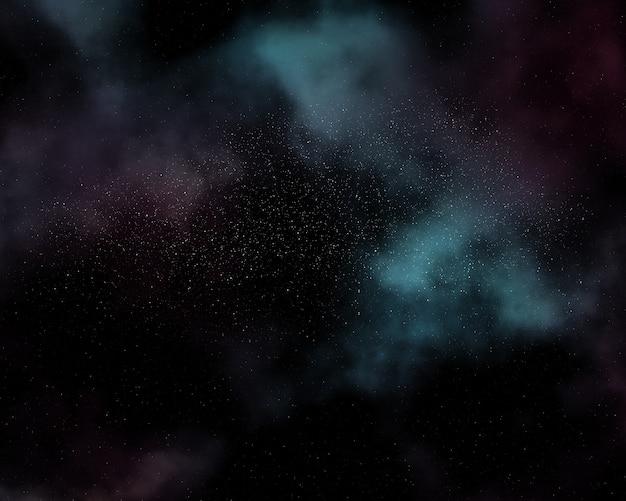 Night sky background with nebula Free Photo