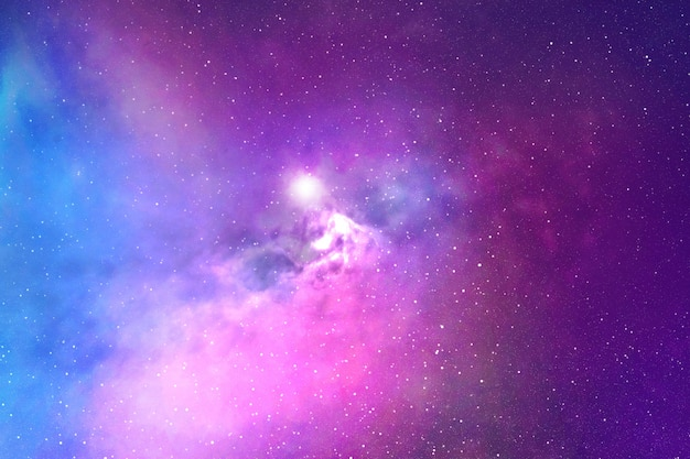 Night sky with stars and nebula Premium Photo