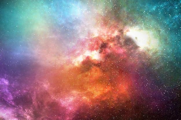 Night sky with stars and nebula Premium Photo