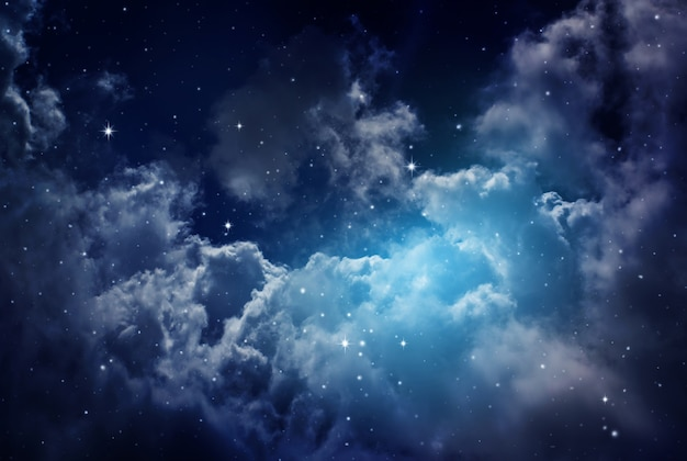 Night sky with stars. Premium Photo