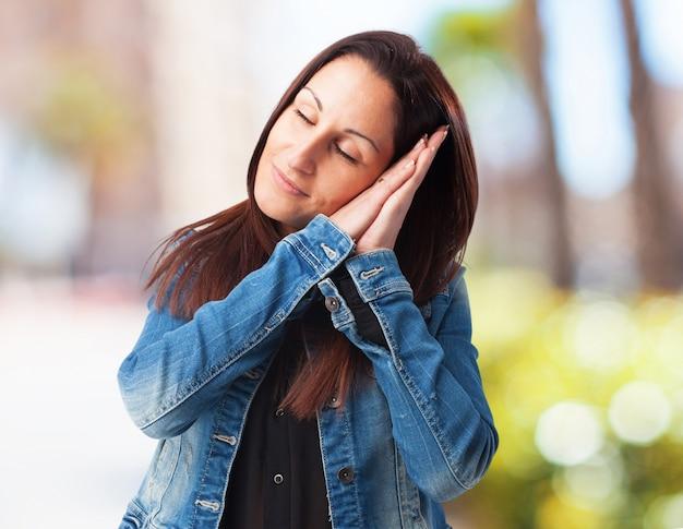 женщина, спать изолированные Бесплатные Фотографии