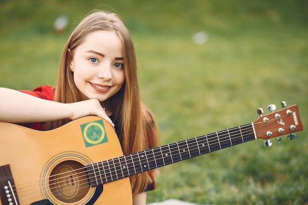 Image result for девушка с гитарой