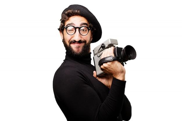 怒っ記録黒の成人男性 無料写真