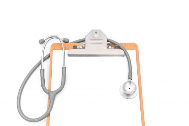 表のフォーム病気のクリップボードの背景 Premium写真