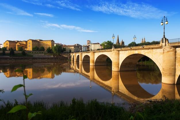 ebro川を渡る橋 logrono スペイン 写真素材 無料ダウンロード