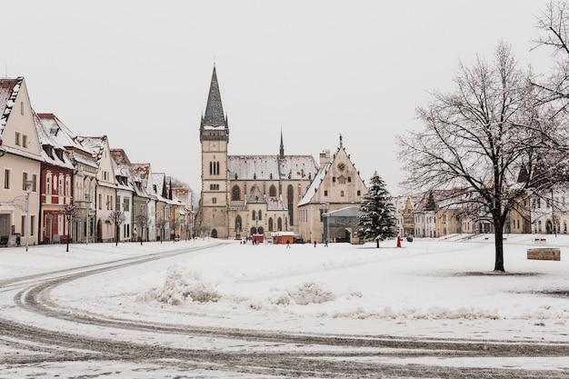 小さな雪の町 無料写真