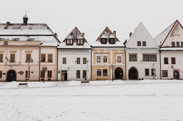 冬のかわいい家 無料写真