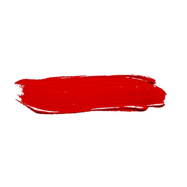 鮮やかな赤い塗料のストローク 無料写真