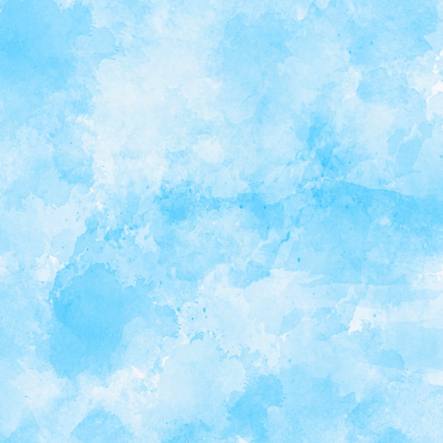 青い水彩テクスチャ背景 無料写真