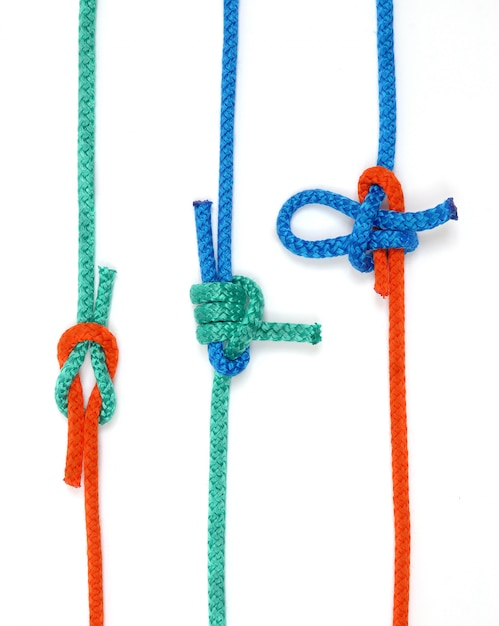 Node with colored ropes Premium Photo