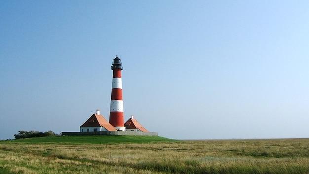 海灯台nordfriesland北ワット 無料写真