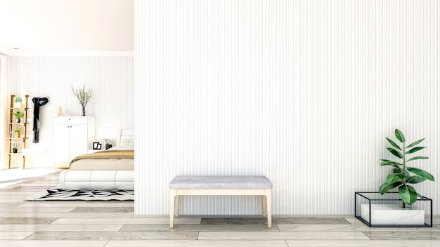 北欧スタイルの寝室のインテリア Premium写真