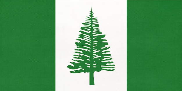 Norfolk island national fabric flag, textile background  symbol of world oceania country Premium Photo