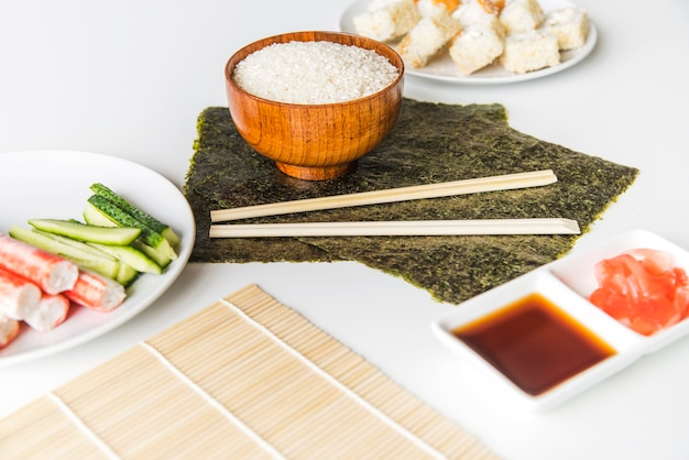 Nori with rice and spices Free Photo