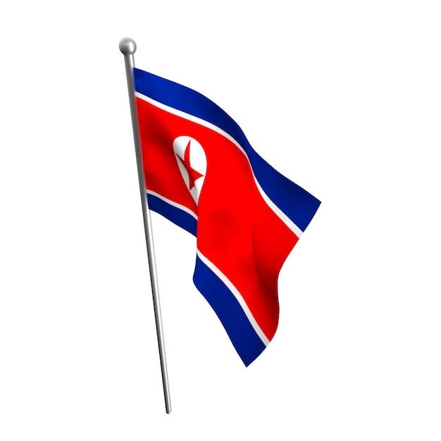 North korea flag Premium Photo