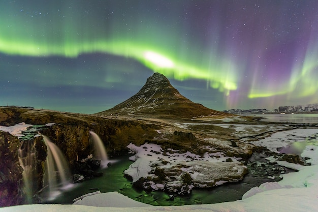 Northern light aurora borealis Premium Photo