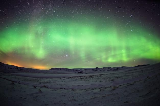 북극광 프리미엄 사진