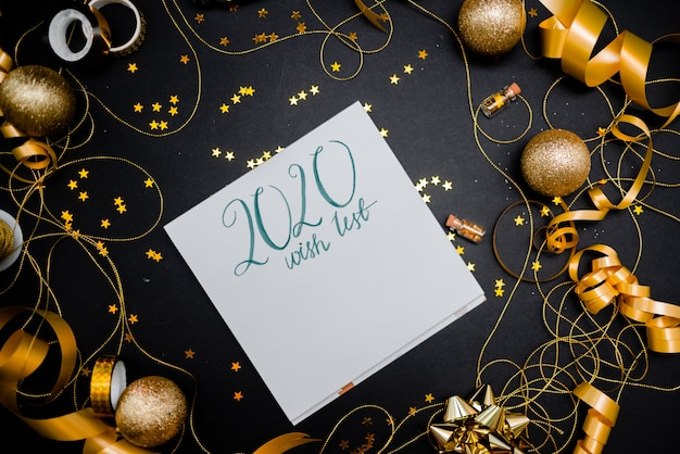 Christmas Wish List 2020.Notebook 2020 Wish List With Golden Bow Photo Premium Download