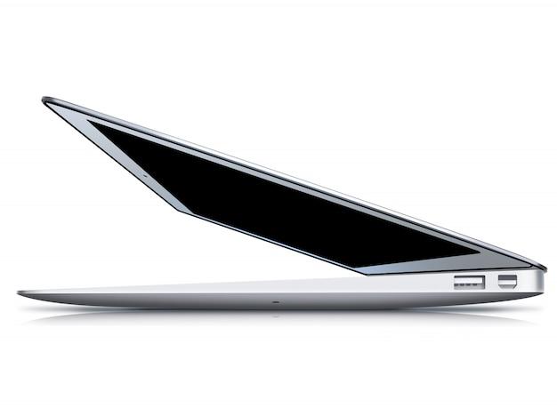 Notebook isolated on white Premium Photo