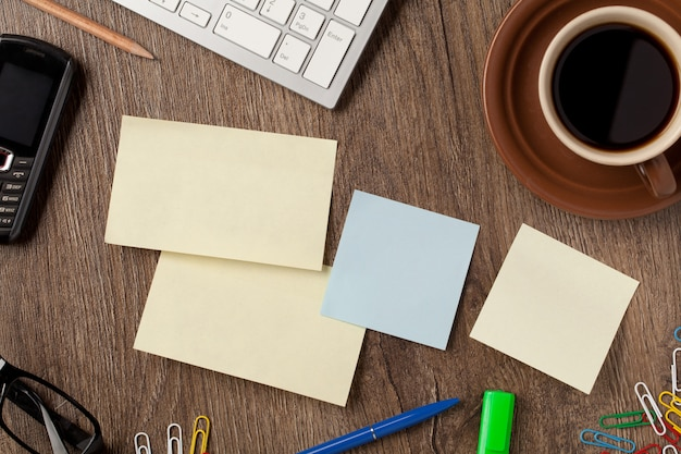 Notebook and office supplies Premium Photo
