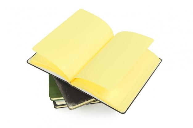 Notebooks isolated on white Premium Photo