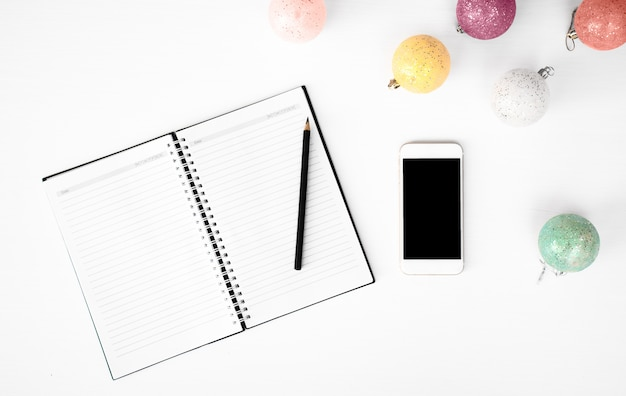 notes to do list christmas composition background photo premium