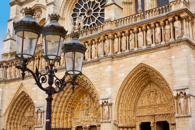 Notre dame cathedral in paris france Premium Photo