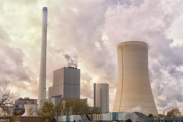 Nuclear power plant Premium Photo