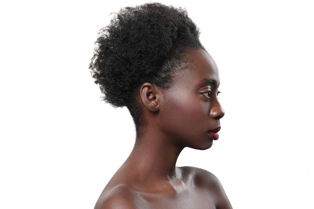 Black afro women nude Free Photo Nude Black Woman In Profile